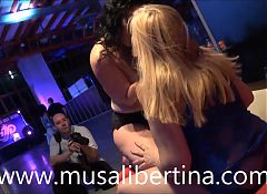 Lesbians and dildo games by Musa Libertina & Montse Swinger