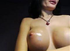 Dark Haried Euro Milf Oils Tits