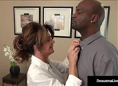 Milf Boss, Deauxma, Can't Fire Her Best Worker's Black Cock!