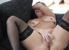 Hot blond is playing herself