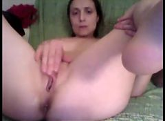 horny couple on webcam with sex toy and blowjob