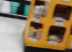 Candid big bottom Mexican milf school shopping.