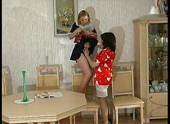 Mature lesbian and maid