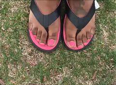Felicia Pink Toenails