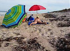 Mature Milf on Beach