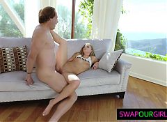 Hot teens sharing their stepfathers